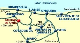 Plano de acceso de Hotel Vega Del Sella
